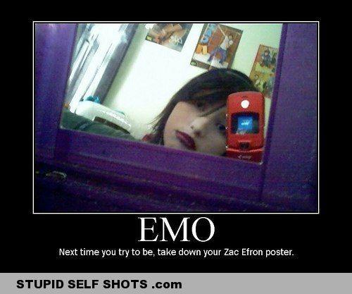 Emo fail, self shot