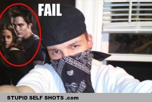 Fake gangster self shot