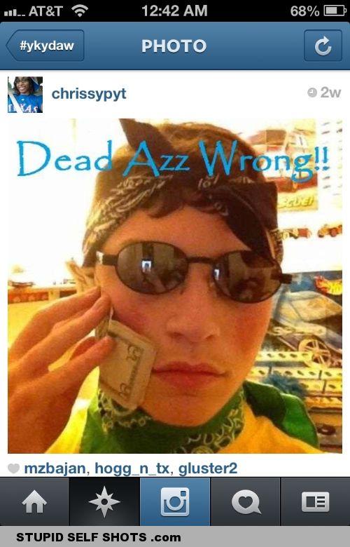 Gangster selfie fail