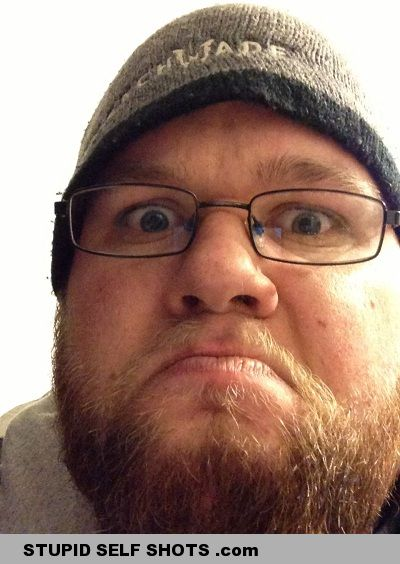 Grumpy red beard self shot