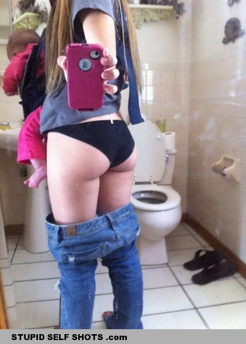 Look at my butt, and my baby, self shot