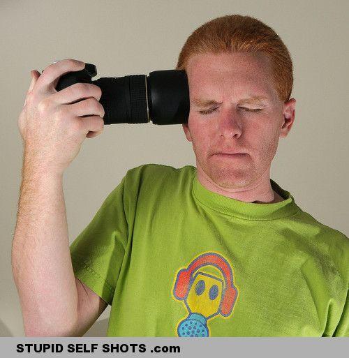 Selfie of a forhead selfie