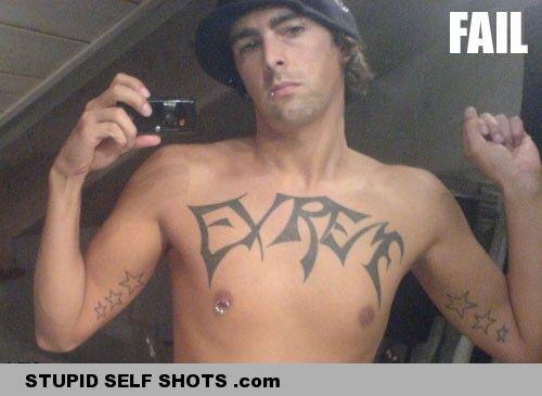 Tattoo fail self shot