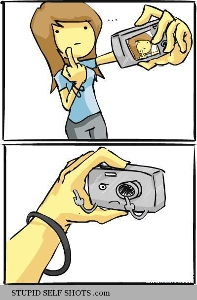 If camera's could respond to self shots