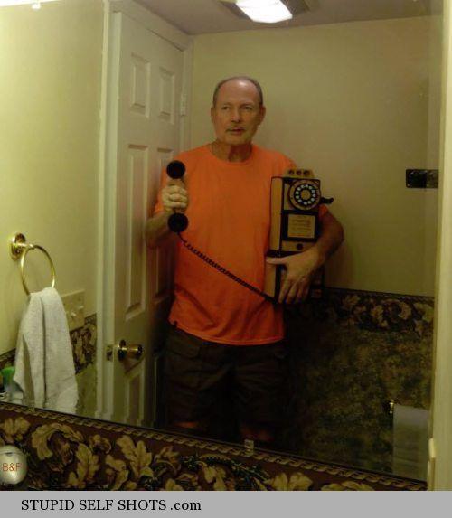 Old man, old phone, Selfie