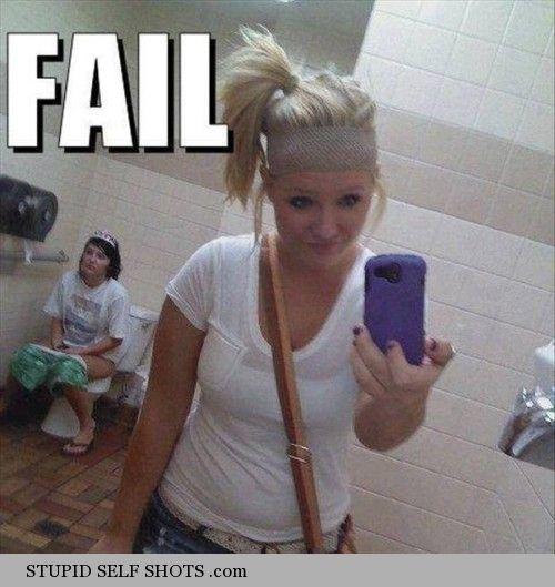 Public bathroom, taking a crap self shot