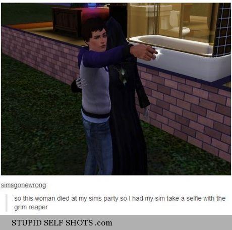 Sim's game self shot