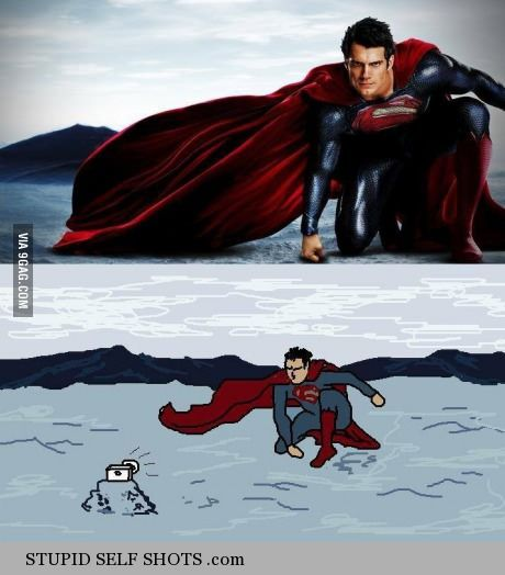 Superman's selfie