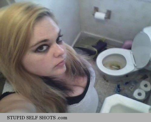 Flush the toilet, self shot