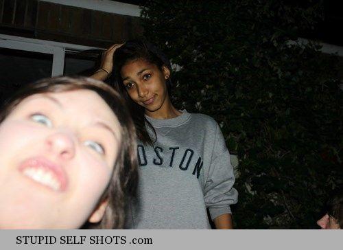Meme face self shot photobomb