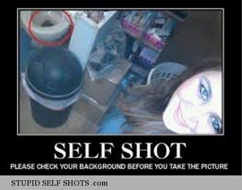 Nasty bathroom self shot