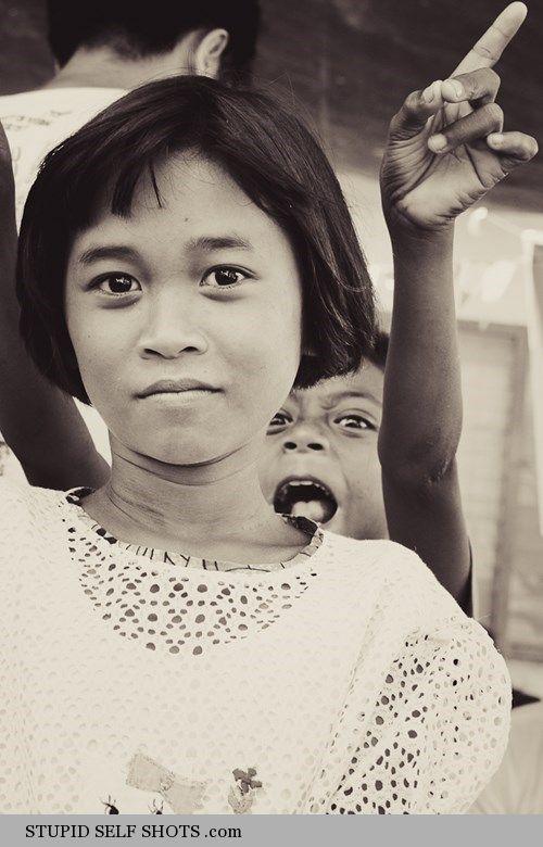 Self Shot, Photobombed by a Happy kid