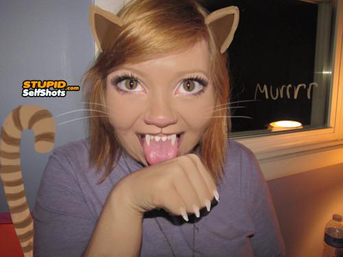 Cat girl self shot