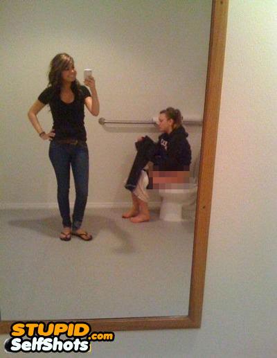 Dropping a duece, bathroom self shot fail