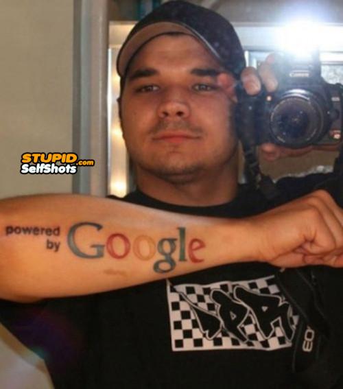 Google Tattoo Fail, self shot