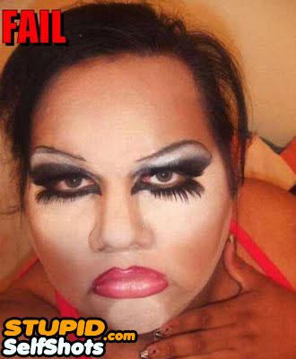 Guy or Girl makeup fail, self shot