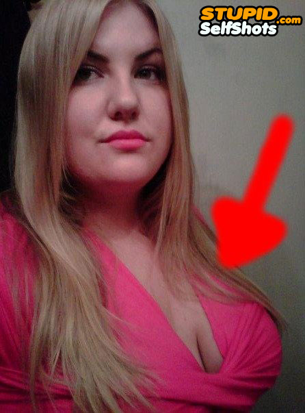 Her chest is deformed, self shot