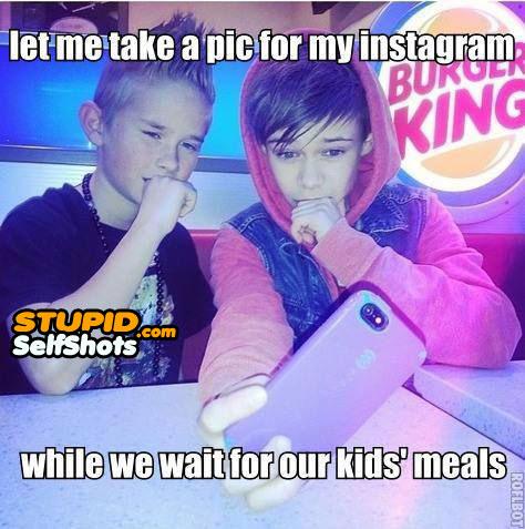 Hipster kids, self shot meme