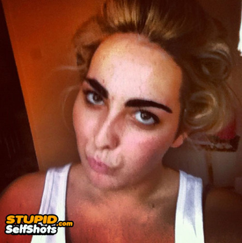 Horribly messed up eyebrows, self shot