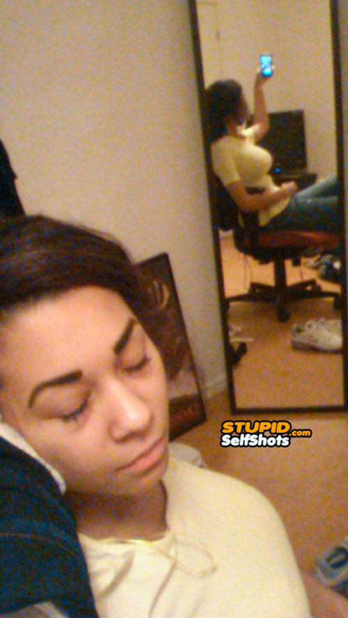 Babe caught me sleeping, mirror reflection fail self shot