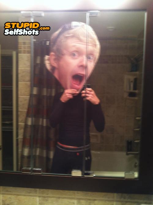 Fake head, self shot
