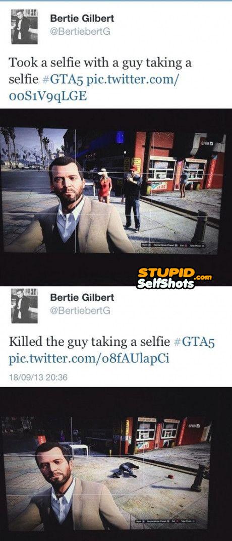 Grand theft Auto, self shot