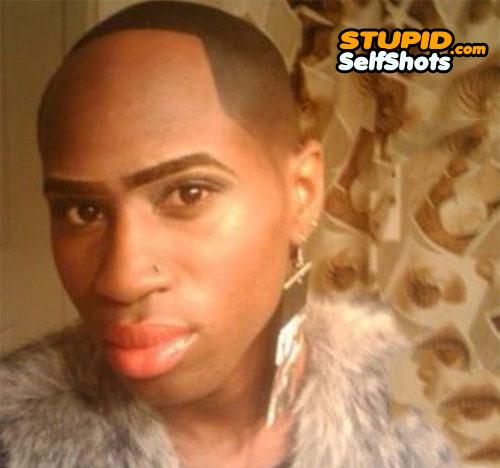 Make up fail, and hair line fail self shot