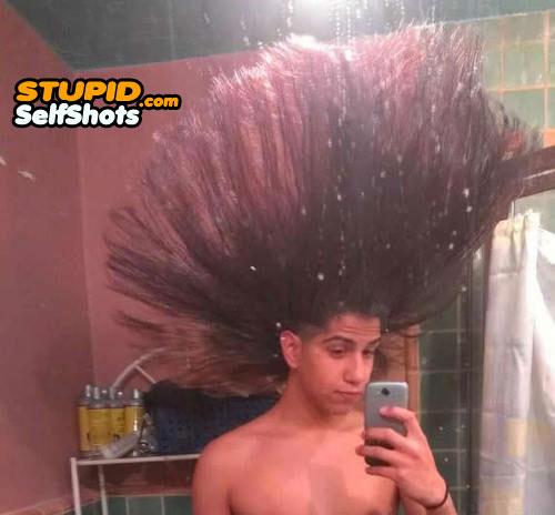 Massive hair, self shot