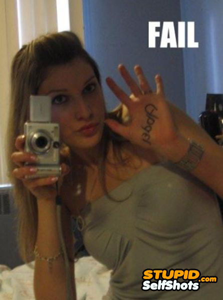 Mirror tattoo self shot fail