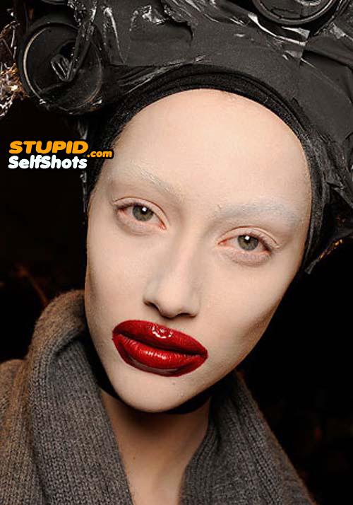 Model makeup fail, self shot
