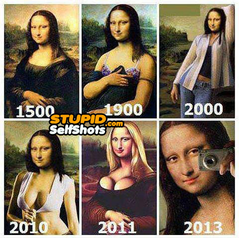 Mona Lisa throughout the ages, self shot