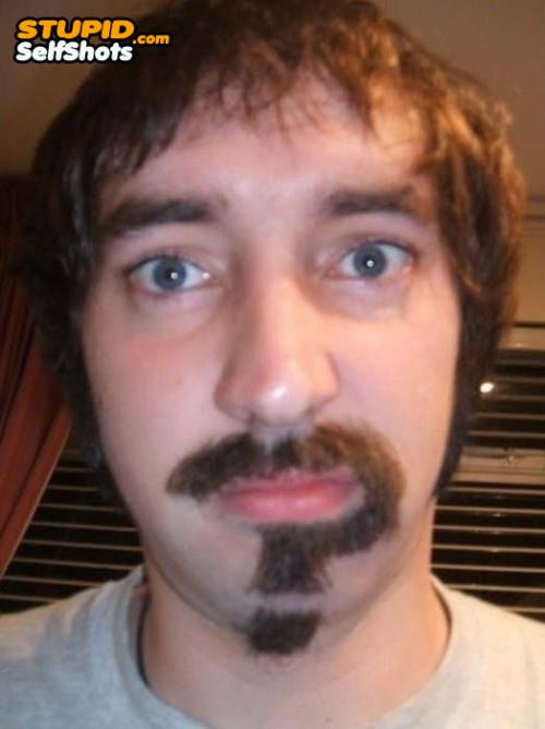 Riddler mustache, self shot