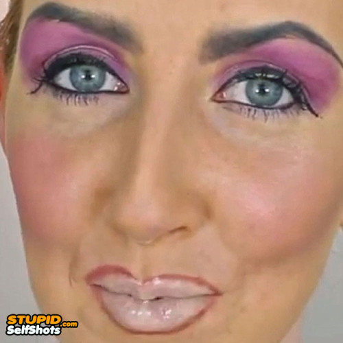 So many makeup fails on one face, self shot