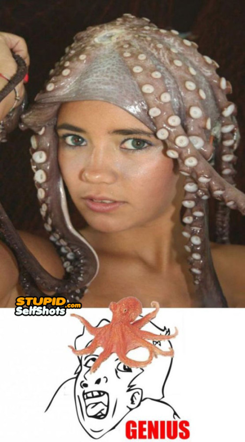 Squid head, self shot fail