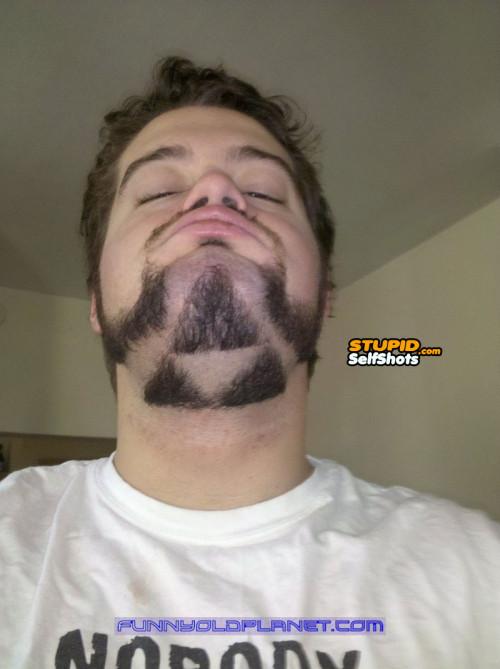 Stupid beard shape, self shot fail