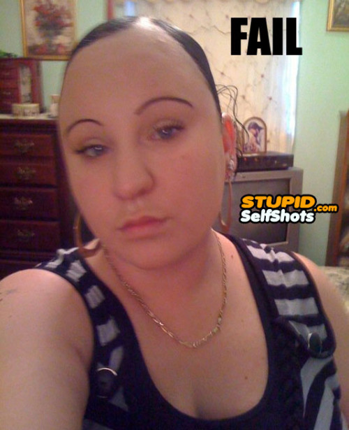 Epic  Hairline fail, self shot