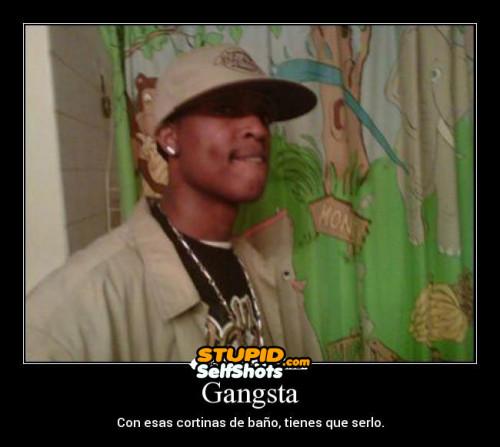 Gangsta self shot fail