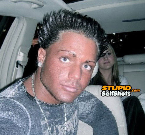 Tanning, hair style double fail, selfie