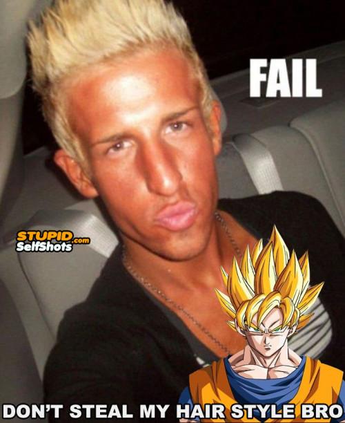 Duck Face Goku wannabe, self shot