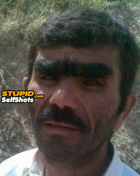 Forest of eyebrows, selfie fail