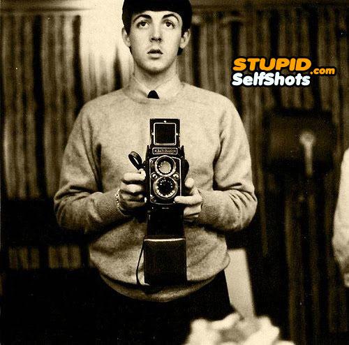 Paul McCartney took a old time selfie