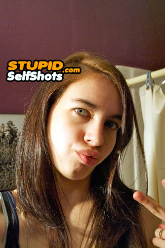 Quack for peace, duck face bathroom selfie
