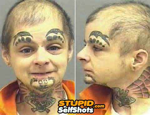 Self shot of face tattoo's, inspired by Mike Tyson